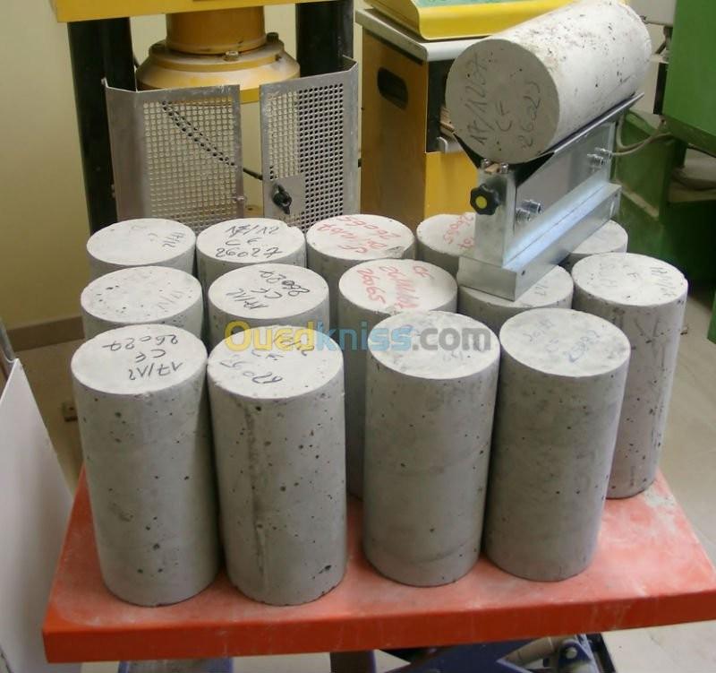 Laboratoire béton et contrôle qualité