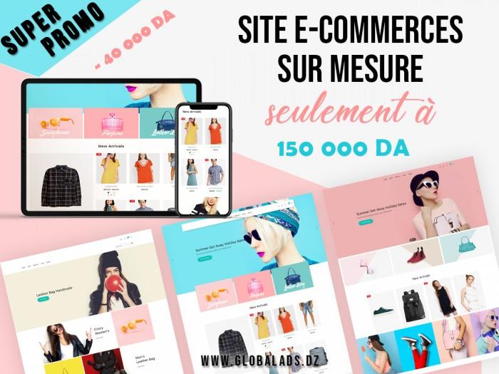 Promotion sur le développement de boutiques en ligne